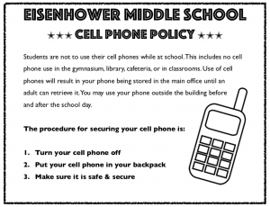 Cell Phone Policy Graphic