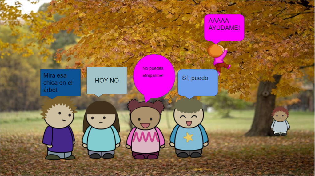 Student Dialogue in Spanish Class